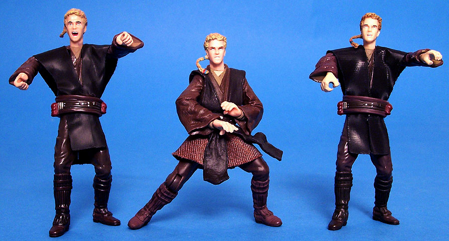 Anakin Skywalker (Deluxe) body | Anakin Skywalker (Tatooine Attack) head = Anakin Skywalker (Battle Pack)
