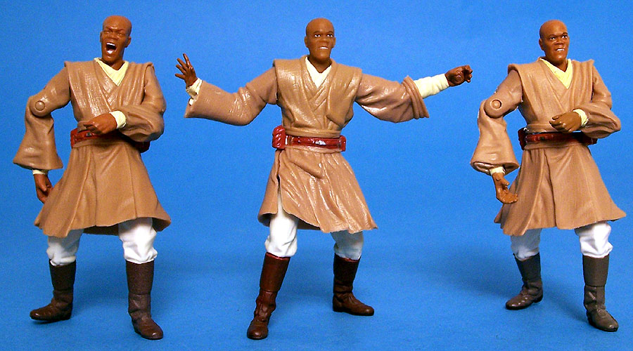 Mace Windu (Geonosis Rescue) body  | Mace Windu (Deluxe) head = Mace Windu (Battle Pack)