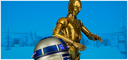 Regular edition C-3PO And R2-D2 Premium Format Figure Set from Sideshow Collectibles