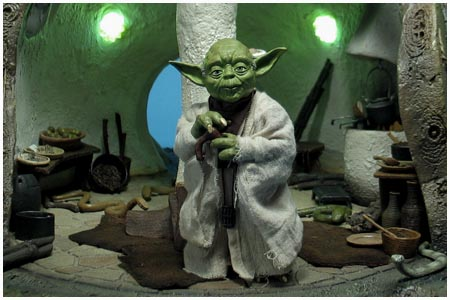 Yoda's Hut - Dagobah from Sideshow Collectibles