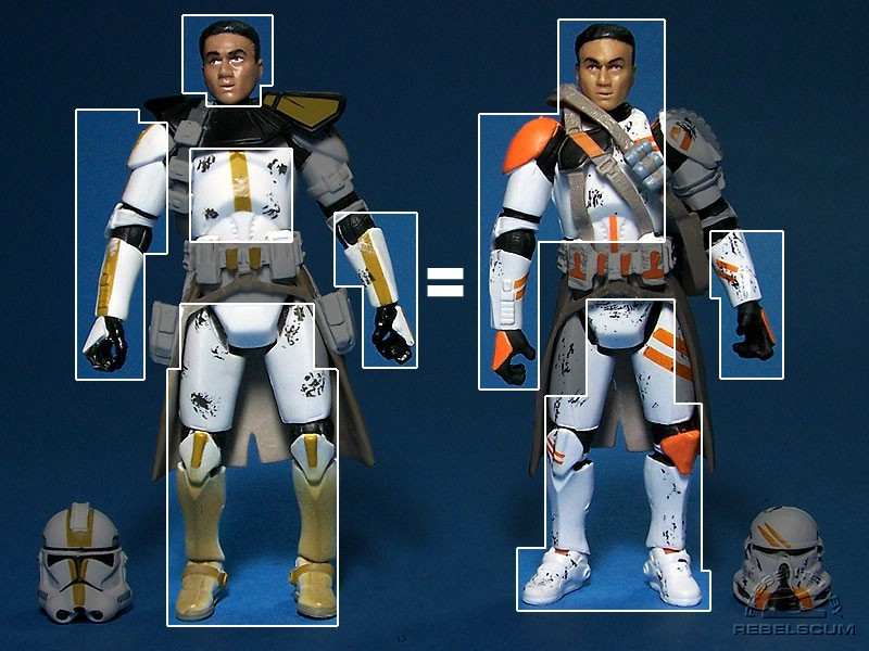 The Airborne Trooper is a retool of the Evolutions Star Corps Trooper