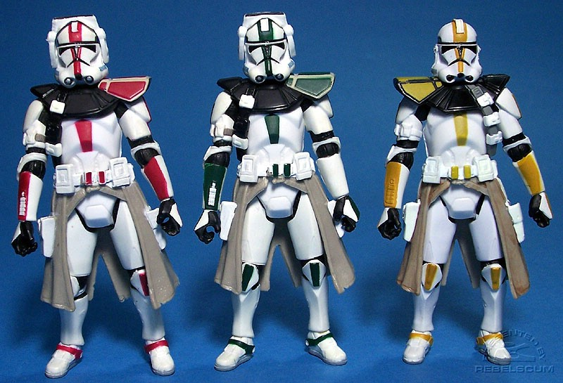 Clone Commander (Deviss) | Clone Commander (Green) | 327th Star Corps Trooper