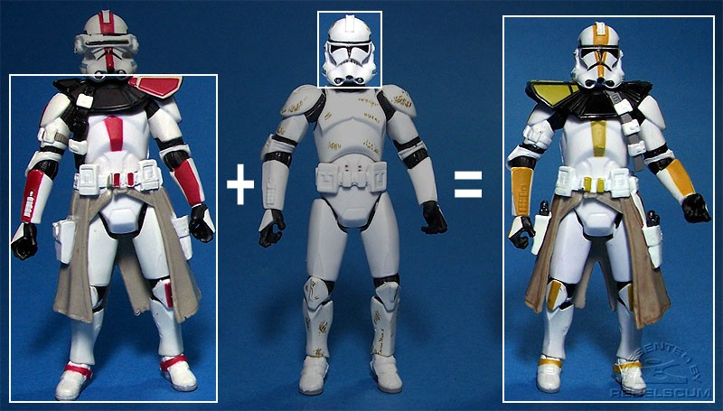 Body of Clone Commander III-33 | Head of Clone Trooper III-41 | 327th Star Corps Trooper