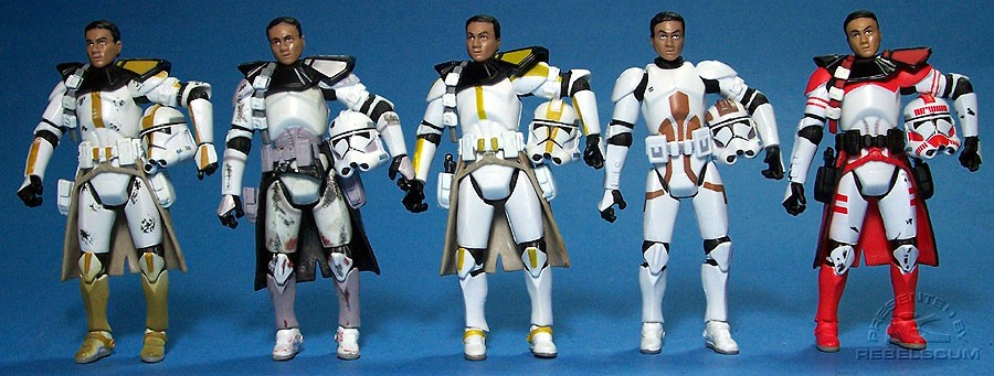 Star Corps Trooper | Coruscant Commander | Felucia Trooper | Clone Engineer | Commander Thire