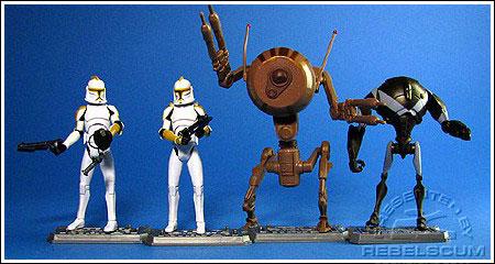Lego Star Wars battle droids custom Lot of 6 random battle droids//super Battle