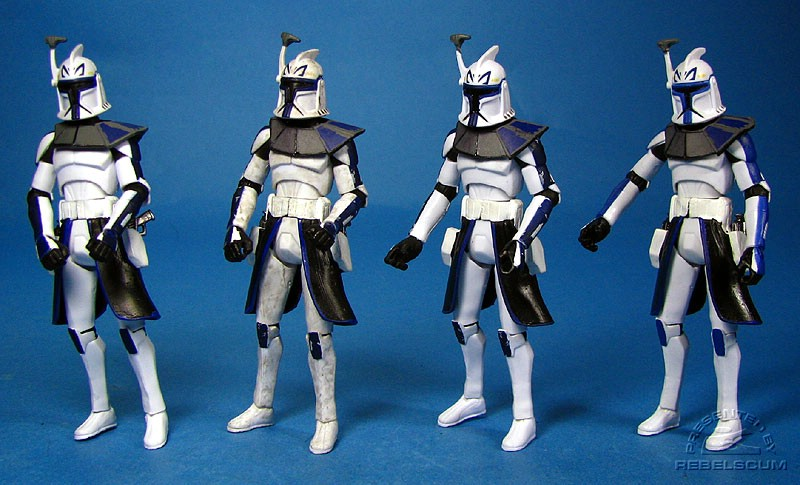 Sneak Preview Captain Rex | ''Dirty'' Captain Rex | ''Clean'' Captain Rex |