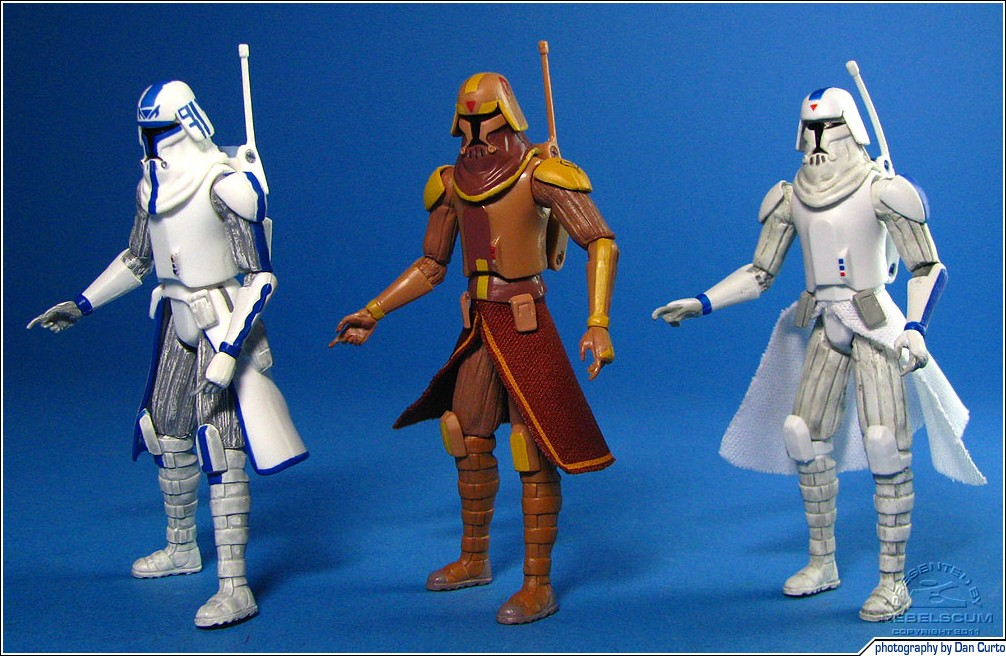 Captain Rex (Orto Plutonia) | Flamethrower Clone Trooper | Clone Trooper (Freeco Speeder)
