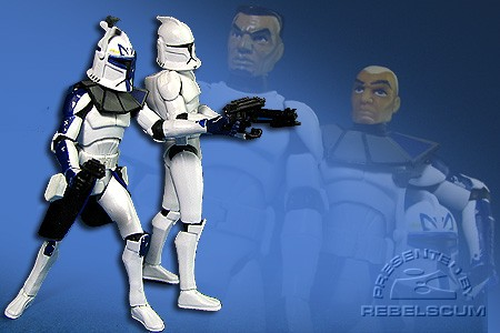 Captain Rex & Clone Trooper Fives
