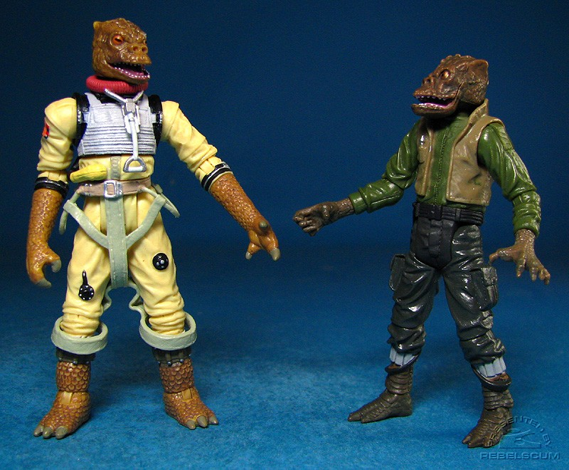 No relation (Bossk is a Trandoshan. Hrchek is a Saurin)