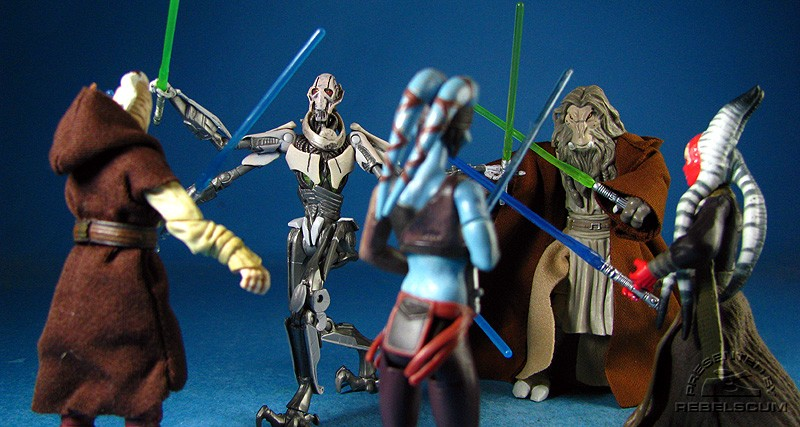 Battling General Grievous on Hypori