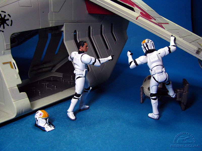 ''Trooper, get rid of that little thing!''  ''Yes, sir!''