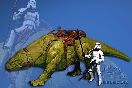 Dewback with Imperial Sandtrooper