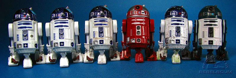 VOTC R2-D2 | Early Bird R2-D2 | TSC Hoth R2-D2 | R2-R9 | Endor R2-D2 | R4-F5