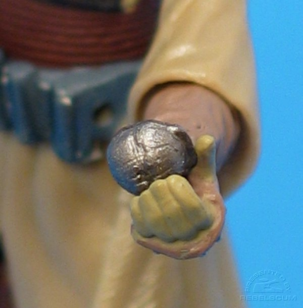 Thermal Detonator plugs into left hand
