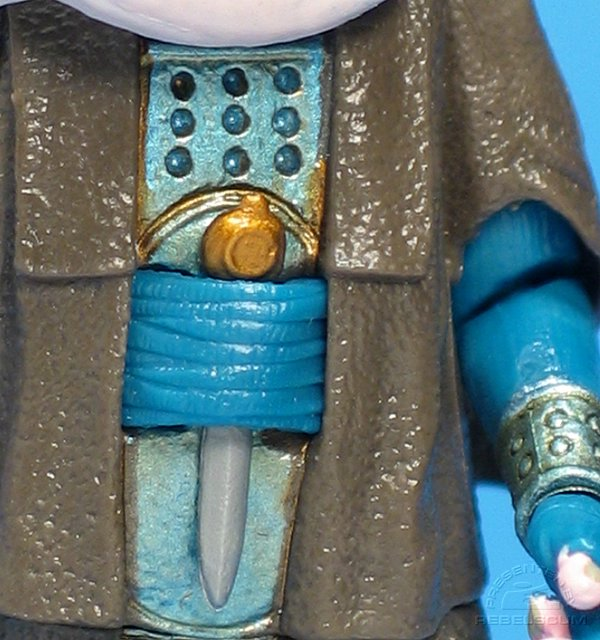 Dagger fits in Bib's belt