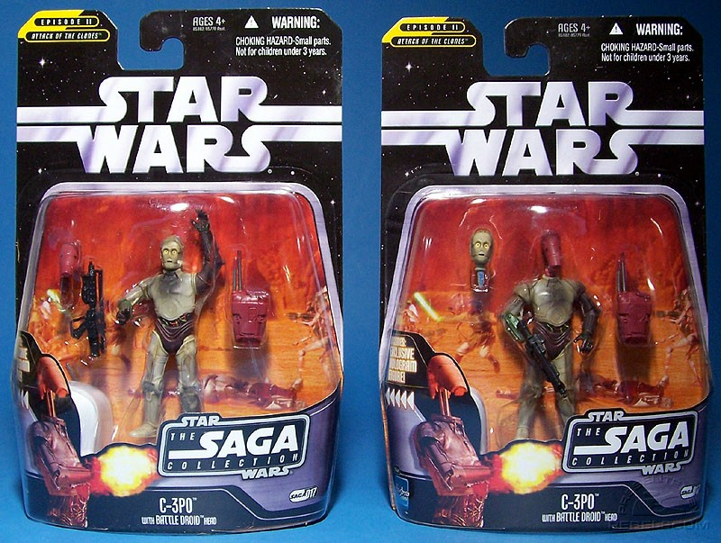 Figure is packaged in both modes (apparently in equal numbers)