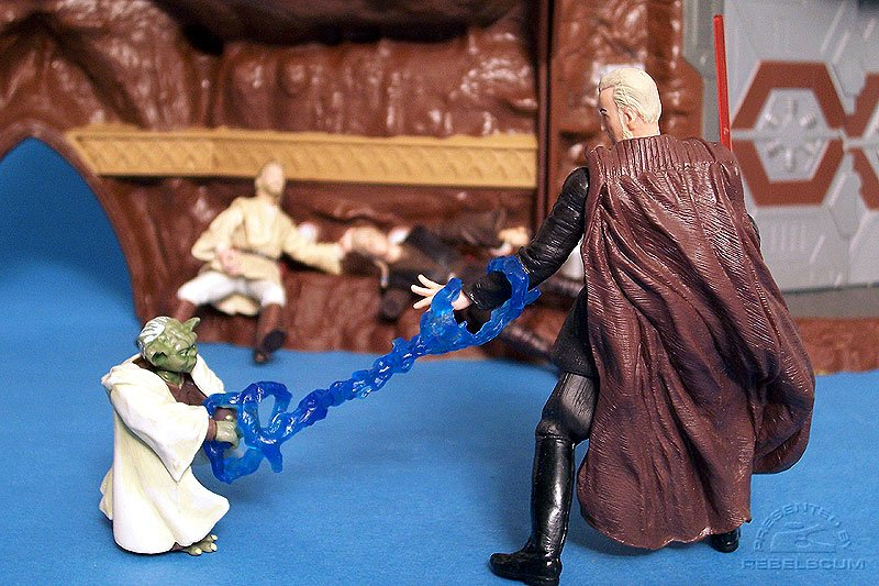 Dooku's power is no match for Yoda!