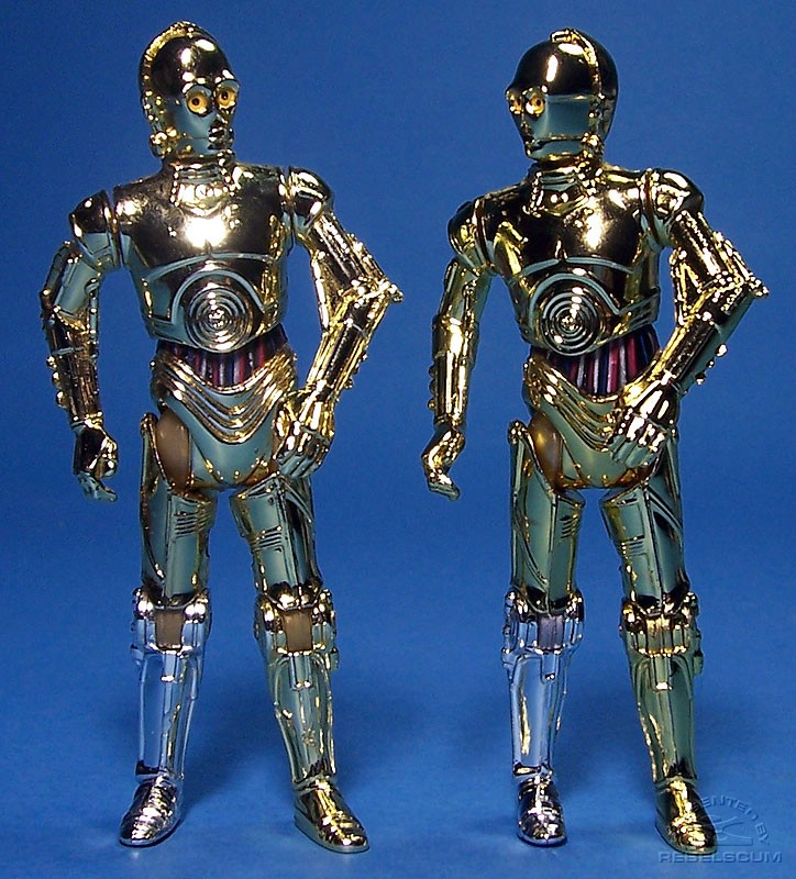 Both versions of C-3PO SAGA-042
