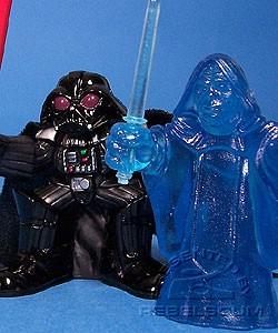Darth Vader /& Holographic Emperor Palpatine Figures