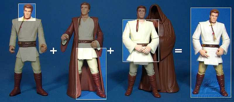 The parts used to make this version of Obi-Wan Kenobi