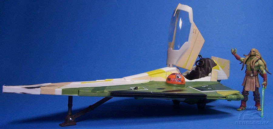 Kit Fisto's Starfigher...too bad he can't fit inside!