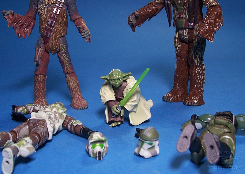 Gree and his trooper lose their heads