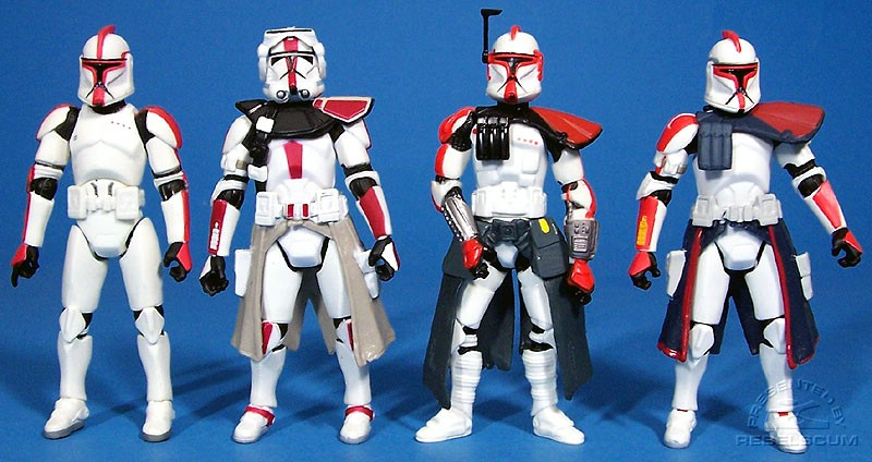 The head of a Clone Captain | the body of a Clone Commander | the pauldron from an ARC Trooper = Captain Fordo