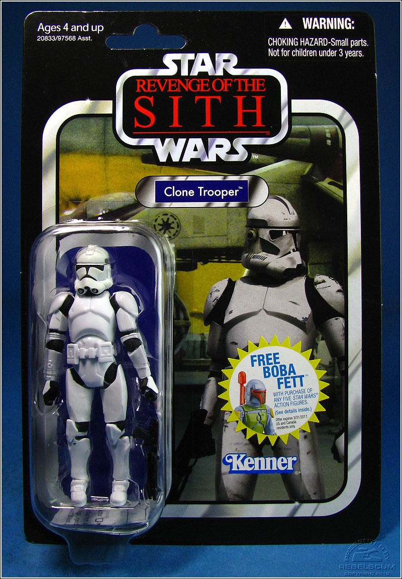 Clone Trooper Variant: Belt is rightside-up, but helmet is still missing stripes. Helmet is yellowing already
