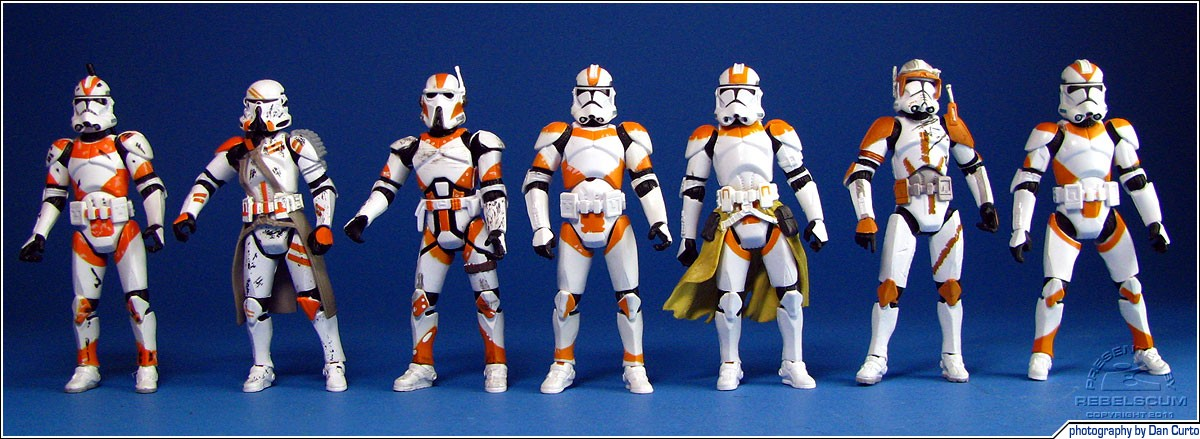 212th Battalion: Clone Trooper | Airborne Trooper | AT-RT Driver | Clone Trooper | Clone Lieutenant | Clone Commander Cody | Clone Trooper