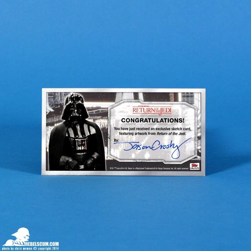 <i>Return of the Jedi</i> Sketch Card by artist Jason Crosby