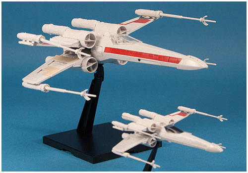 1/72 & 1/144 Red Squadron X-Wing Starfighter Plastic Model Kit from Bandai