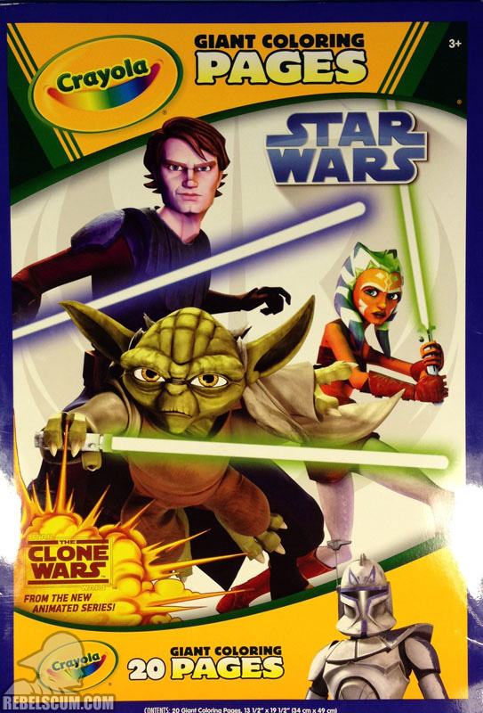 Star Wars: The Clone Wars Crayola Giant Coloring Pages