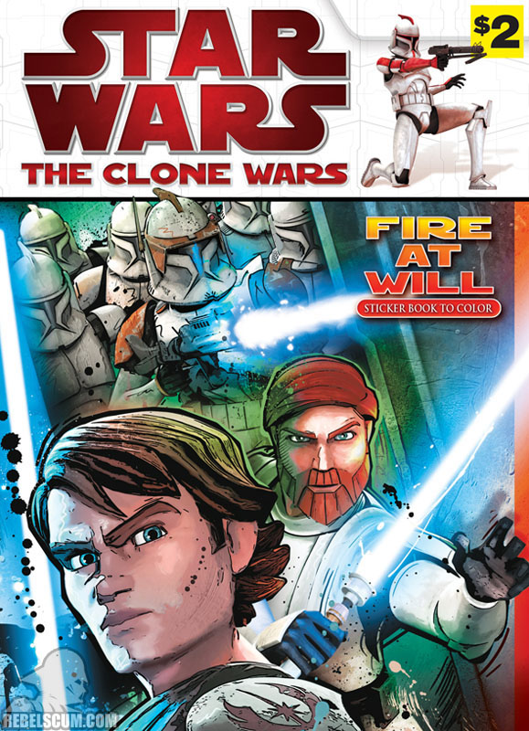 Star Wars: The Clone Wars – Fire At Will Coloring Book