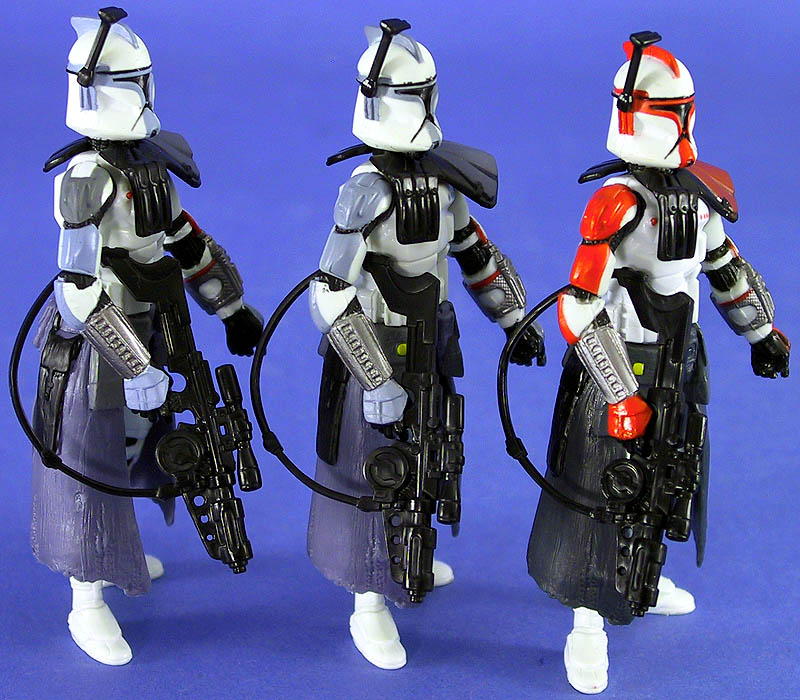Variations: Gray Shoulder Pad, Blue Shoulder Pad, ARC Trooper Captain