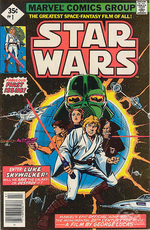 Marvel Star Wars 1 (35¢ direct market, with UPC code)