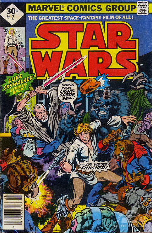 Star Wars (Marvel) 2 (direct market edition with UPC code)