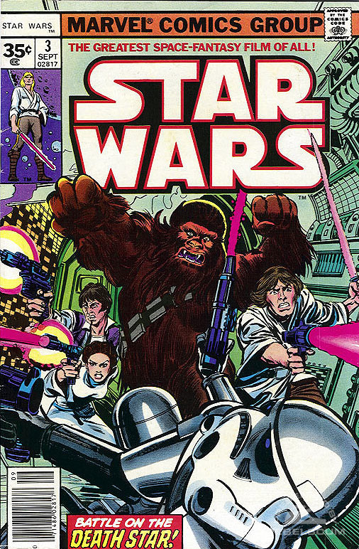 Star Wars (Marvel) 3 (newsstand edition; 35¢ variant)