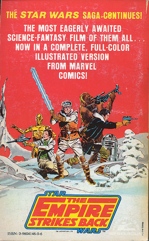 Marvel Comics Illustrated Version of The Empire Strikes Back (back cover)