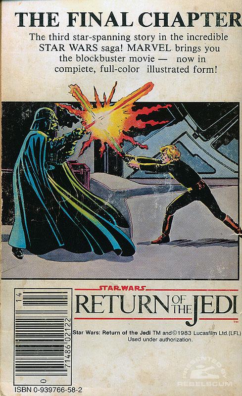 Marvel Comics Illustrated Version of Return of the Jedi (back cover)