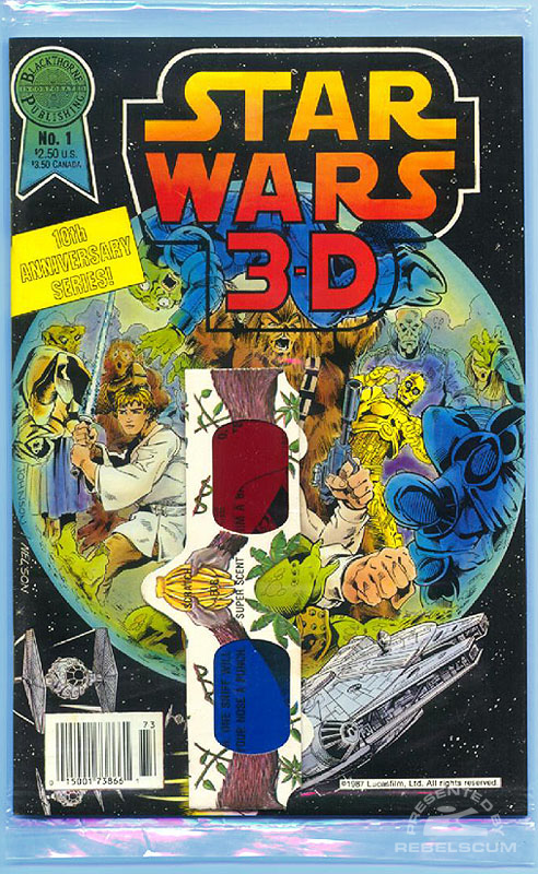 Star Wars 3-D 1 (Bagged, style 1 glasses)