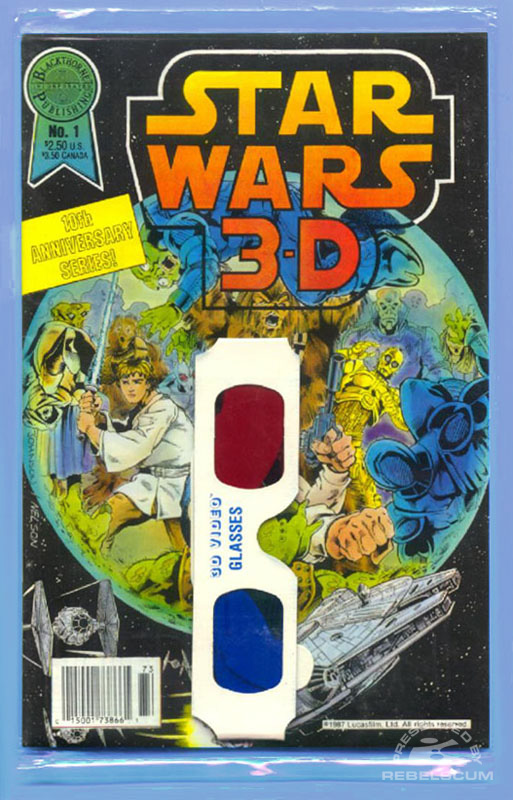 Star Wars 3-D 1 (Bagged, style 2 glasses)
