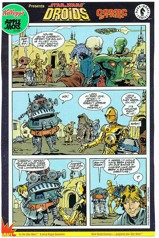 Droids Comic Strip (from Apple Jacks Cereal)