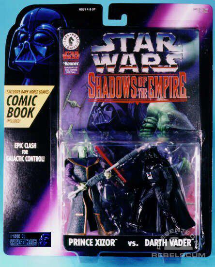 Prince Xizor vs. Darth Vader packaging