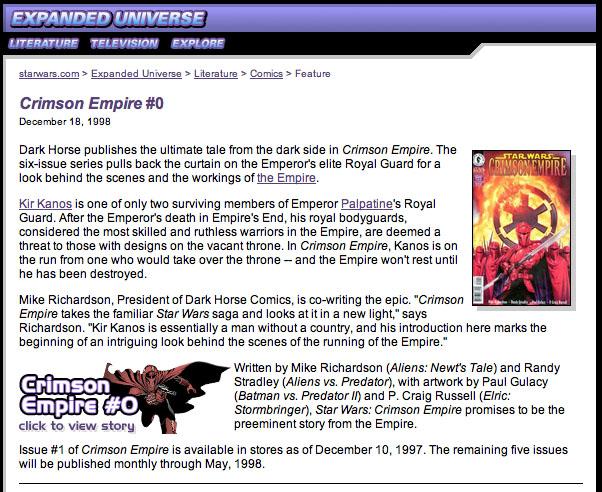 Crimson Empire #0