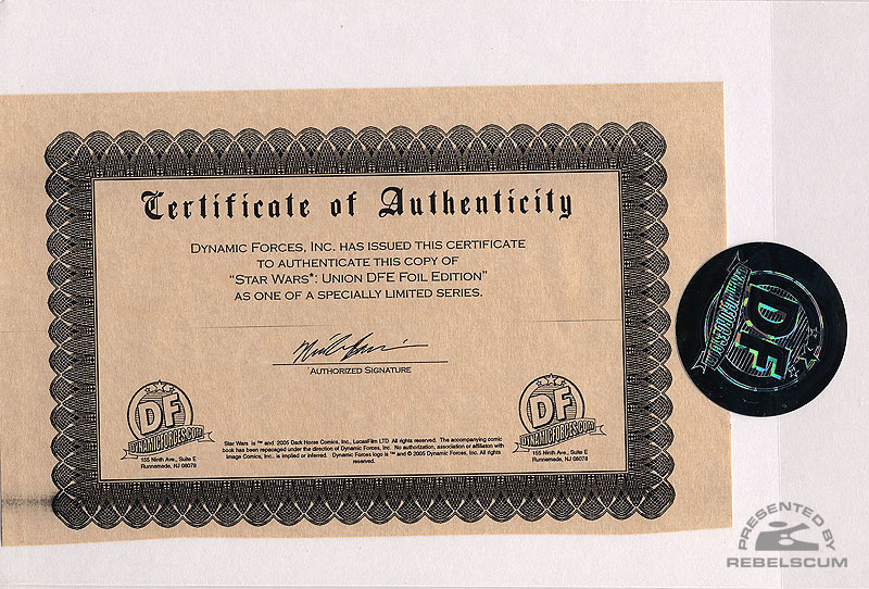 Union 1 (Dynamic Forces Gold Edition Certificate of Authenticity)
