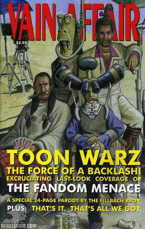 Toon Warz 1/8: The Fandom Menace (Crilley 'Vain Affair' cover variant)
