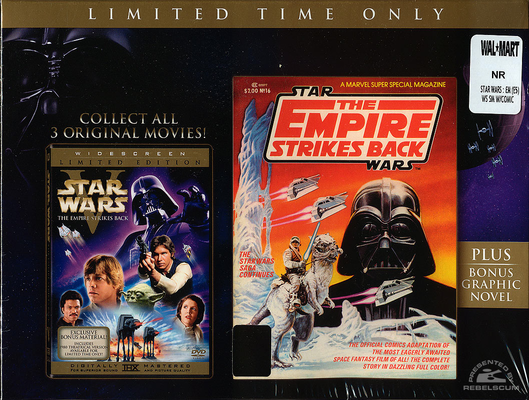 The Empire Strikes Back (Wal*Mart DVD) Box Front