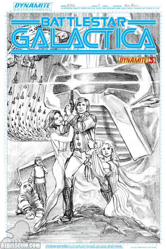 Battlestar Galactica #3 (Dynamite Comics-Sketch exclusive)
