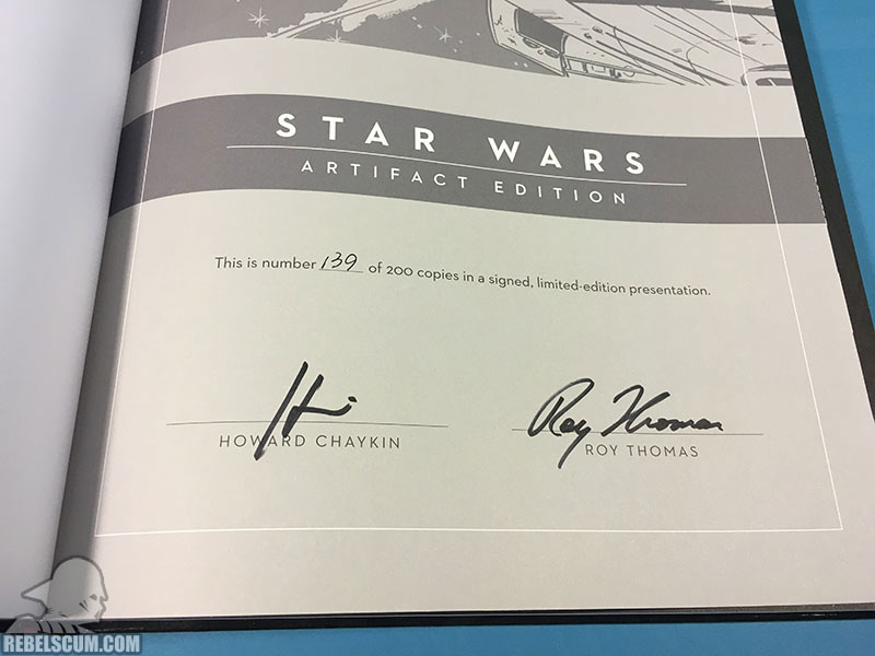 Star Wars Artifact Edition Hardcover (Limited Edition-Signatures)