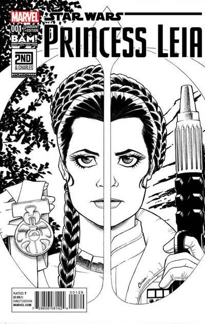 Princess Leia 1 (Amanda Conner Books A Million sketch variant)